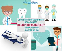 COVID-19: Des masques pour les professionnels de la santé