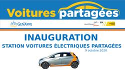 Station de voitures électriques partagées à Genappe